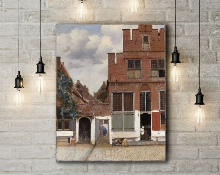 Vermeer: The Little Street. Fine Art Canvas.